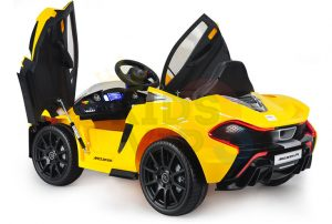 kidsvip ride on kids car 12v toddlers ride on rubber wheels leather seat yellow 27