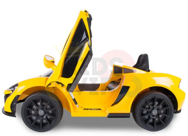 kidsvip ride on kids car 12v toddlers ride on rubber wheels leather seat yellow 29