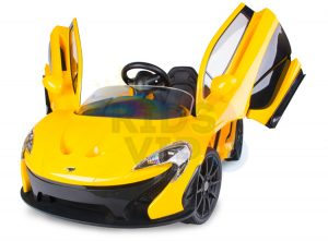 kidsvip ride on kids car 12v toddlers ride on rubber wheels leather seat yellow 30