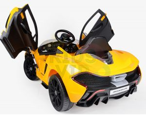 kidsvip ride on kids car 12v toddlers ride on rubber wheels leather seat yellow 35