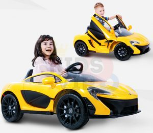kidsvip ride on kids car 12v toddlers ride on rubber wheels leather seat yellow 36
