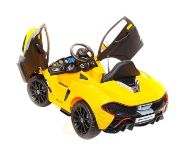 kidsvip ride on kids car 12v toddlers ride on rubber wheels leather seat yellow 8