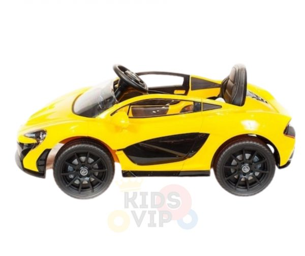 kidsvip ride on kids car 12v toddlers ride on rubber wheels leather seat yellow 9