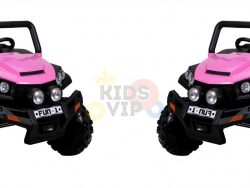 kidsvip utv buggy kids and toddlers ride on 2x12v rubber wheels 2588 pink 1