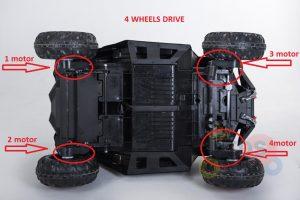KIDSVIP 12v kids and toddlers utv 2 seats rubber wheels white 98