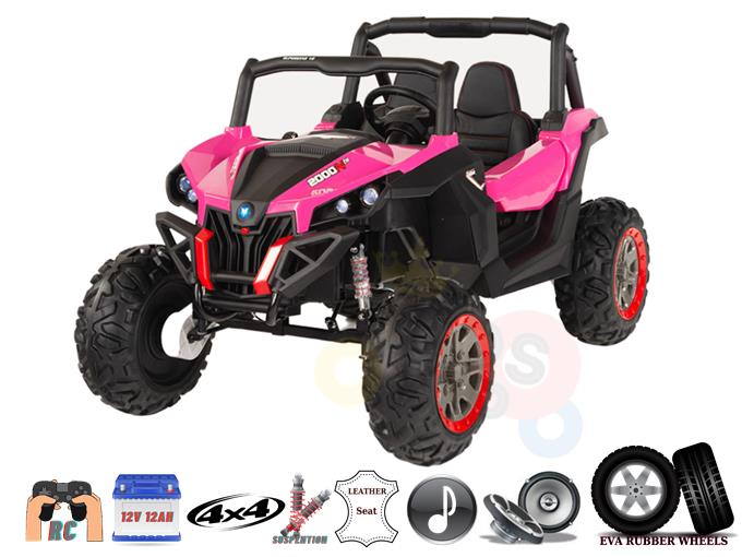 4X4 Sport Edition 2 Seats 12V Off Road Buggy / UTV Kids Ride On Car With RC
