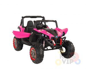 KIDSVIP 12v kids and toddlers utv 2 seats rubber wheels pink 1