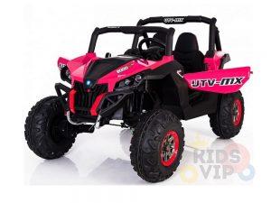 KIDSVIP 12v kids and toddlers utv 2 seats rubber wheels pink 11