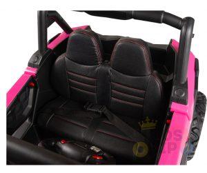 KIDSVIP 12v kids and toddlers utv 2 seats rubber wheels pink 13