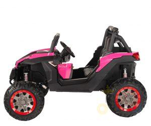 KIDSVIP 12v kids and toddlers utv 2 seats rubber wheels pink 2