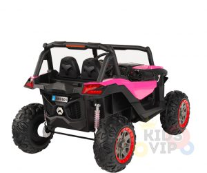 KIDSVIP 12v kids and toddlers utv 2 seats rubber wheels pink 4