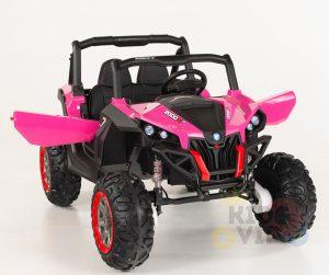 KIDSVIP 12v kids and toddlers utv 2 seats rubber wheels pink 6