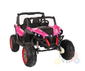 KIDSVIP 12v kids and toddlers utv 2 seats rubber wheels pink 7