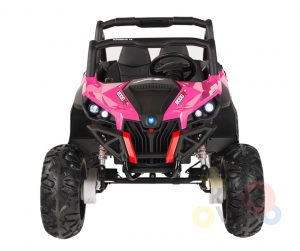 KIDSVIP 12v kids and toddlers utv 2 seats rubber wheels pink 8