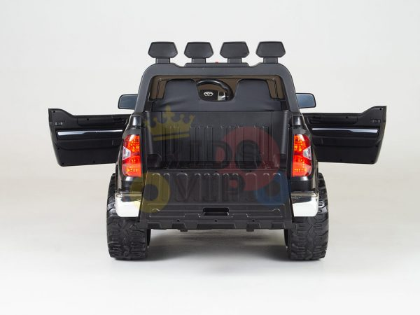kidsvip 12v toyota tundra kids ride on car 2 seater black 5