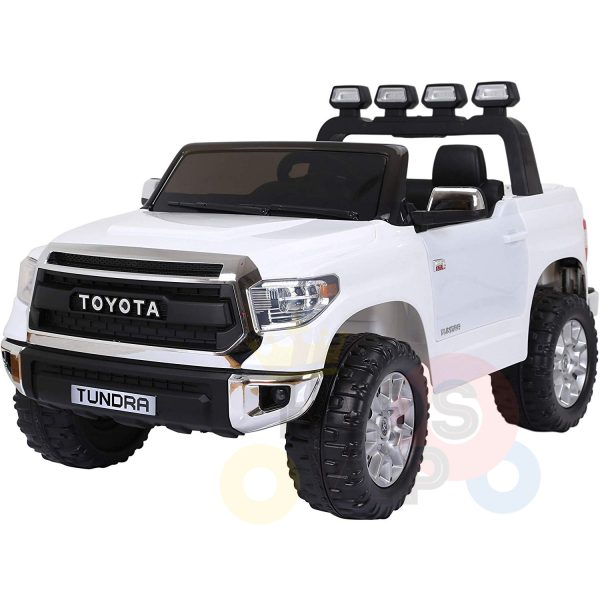 kidsvip 12v toyota tundra kids ride on car 2 seater white 1