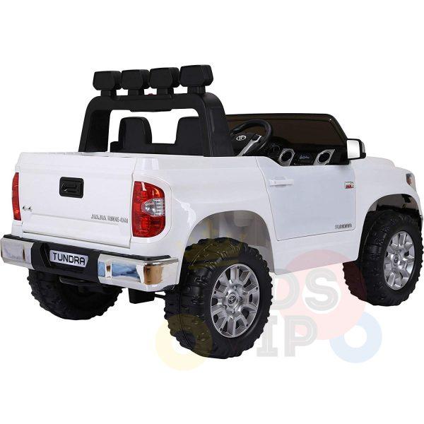 kidsvip 12v toyota tundra kids ride on car 2 seater white 12
