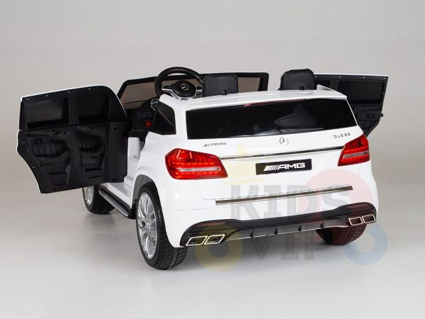 kidsvip mercedes gls kids and toddlers 2  seater ride car white 1 1