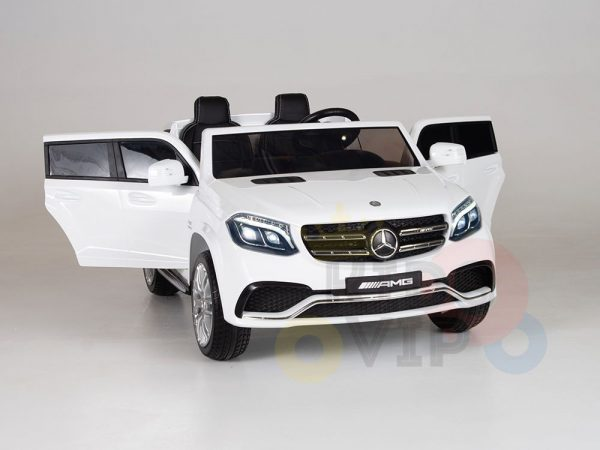 kidsvip mercedes gls kids and toddlers 2  seater ride car white 12 1