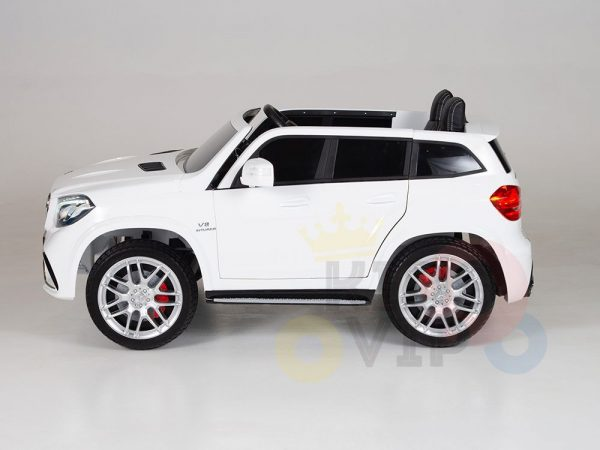 kidsvip mercedes gls kids and toddlers 2  seater ride car white 3 1
