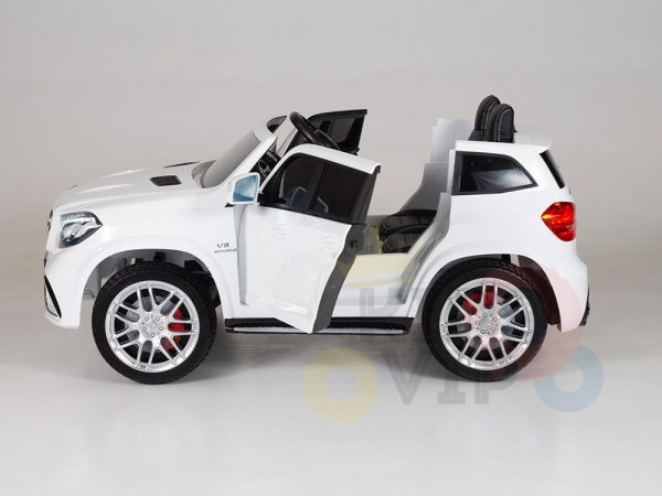 kidsvip mercedes gls kids and toddlers 2  seater ride car white 4 1