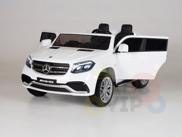 kidsvip mercedes gls kids and toddlers 2  seater ride car white 5 1