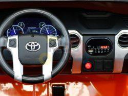 kidsvip 12v toyota tundra kids ride on car 2 seater orange 1