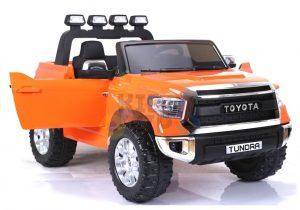 kidsvip 12v toyota tundra kids ride on car 2 seater orange 11