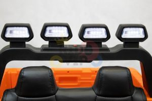 kidsvip 12v toyota tundra kids ride on car 2 seater orange 4