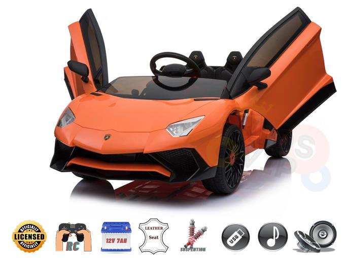Licensed Limited Sport Edition SV Lamborghini 12v Kids Ride on Car  With RC