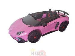 kidsvip lamborghini 12v kids and toddlers ride on car leather seat remote lambo pink 1
