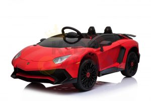 kidsvip lamborghini 12v kids and toddlers ride on car leather seat remote lambo red 14