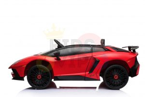 kidsvip lamborghini 12v kids and toddlers ride on car leather seat remote lambo red 16