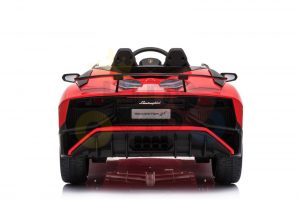 kidsvip lamborghini 12v kids and toddlers ride on car leather seat remote lambo red 17