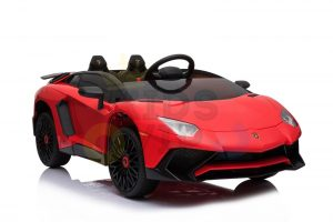 kidsvip lamborghini 12v kids and toddlers ride on car leather seat remote lambo red 2