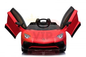 kidsvip lamborghini 12v kids and toddlers ride on car leather seat remote lambo red 3