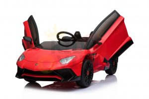 kidsvip lamborghini 12v kids and toddlers ride on car leather seat remote lambo red 4