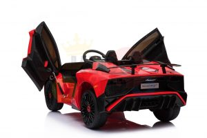 kidsvip lamborghini 12v kids and toddlers ride on car leather seat remote lambo red 5