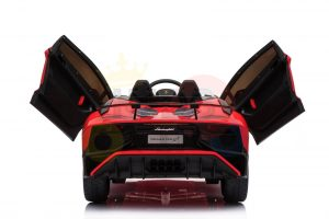 kidsvip lamborghini 12v kids and toddlers ride on car leather seat remote lambo red 6