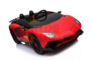 kidsvip lamborghini 12v kids and toddlers ride on car leather seat remote lambo red 7