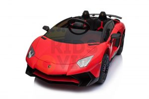 kidsvip lamborghini 12v kids and toddlers ride on car leather seat remote lambo red 8