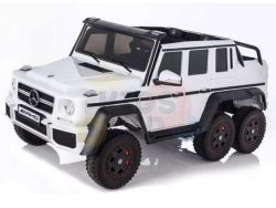 mercedes benz 6x6 kids ride on car truck 2 seats kids toddlers 12v rubber wheel kidsvip white 1801 1