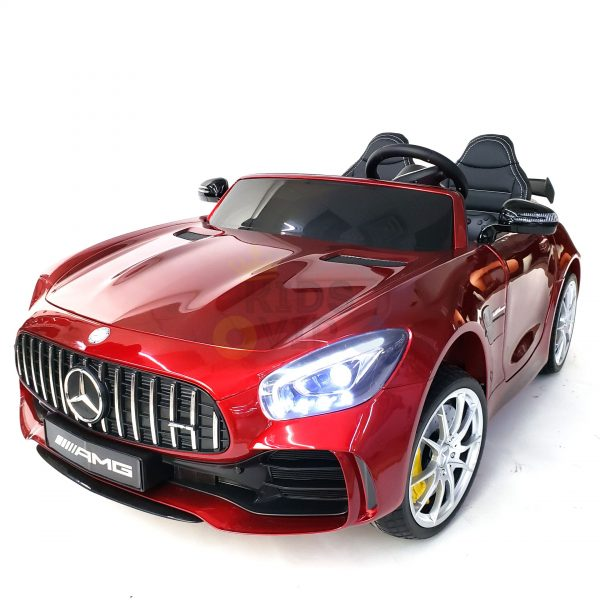 kidsvip mercedes benz gtr 2 seater kids and toddlers ride on car red 11