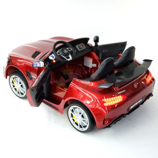 kidsvip mercedes benz gtr 2 seater kids and toddlers ride on car red 16