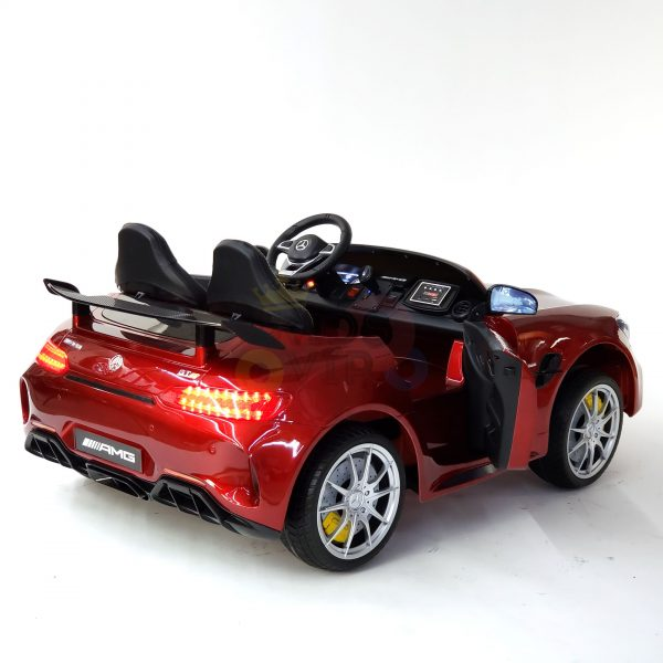 kidsvip mercedes benz gtr 2 seater kids and toddlers ride on car red 27