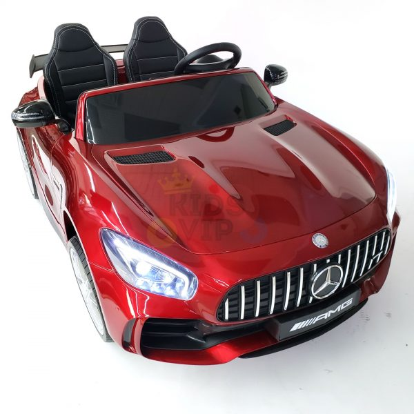 kidsvip mercedes benz gtr 2 seater kids and toddlers ride on car red 38