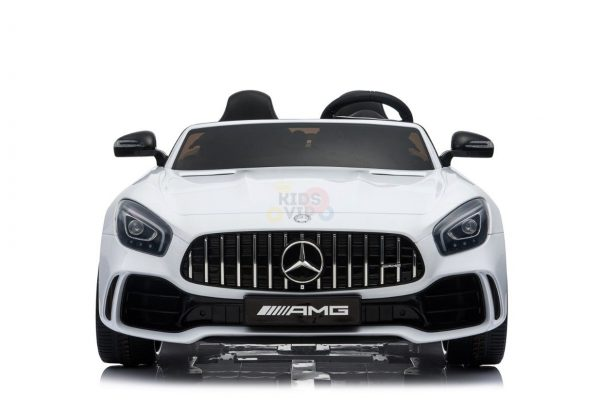 kidsvip mercedes benz gtr 2 seater kids and toddlers ride on car white 2
