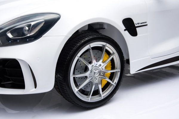 kidsvip mercedes benz gtr 2 seater kids and toddlers ride on car white 22
