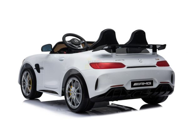 kidsvip mercedes benz gtr 2 seater kids and toddlers ride on car white 4