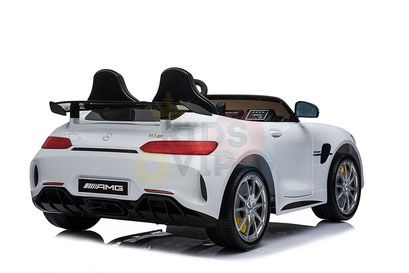 kidsvip mercedes benz gtr 2 seater kids and toddlers ride on car white 43